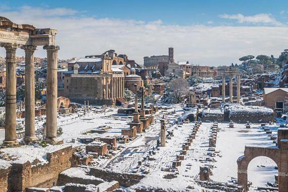 Rome Photography Print Roman Forum Lazio Landscape Winter Roma Rome Campidoglio Capitoline Colosseum Italy Photography Rome Photography Italy Winter