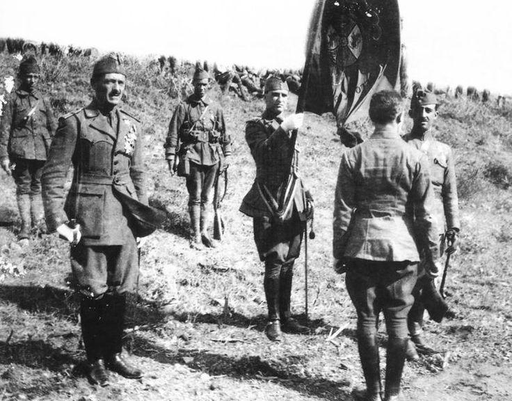Spain - 1936-39. - GC - Franco y al fundador de la Legión, Millán Astray, Teniente Coronel,
