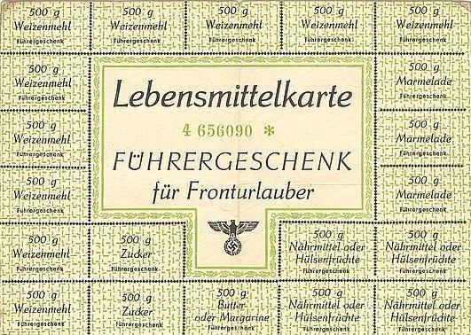 World War  German Food Stamps