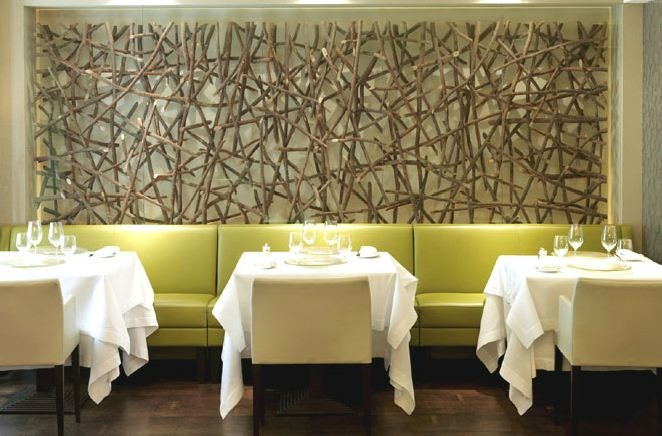 nature inspired decor for a restuarant or cafe love this