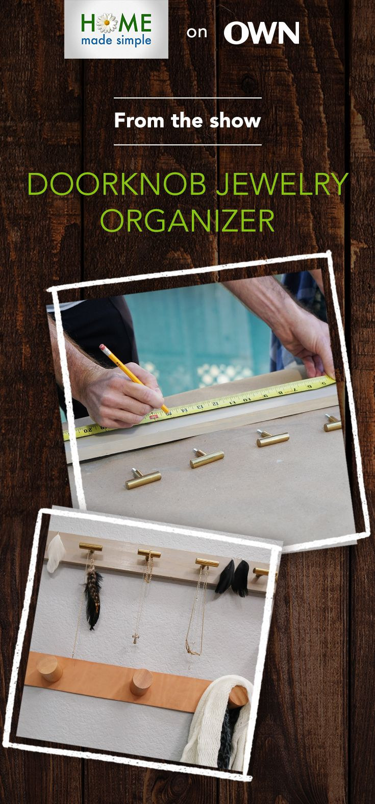 Diy Jewelry Organizer Home Made Simple