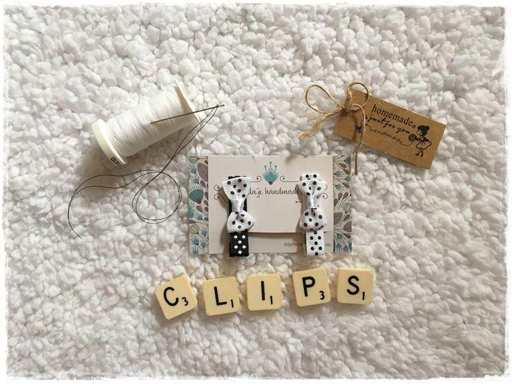 'Spotty Dots' Hair Clip Set dajehandmade.com.au