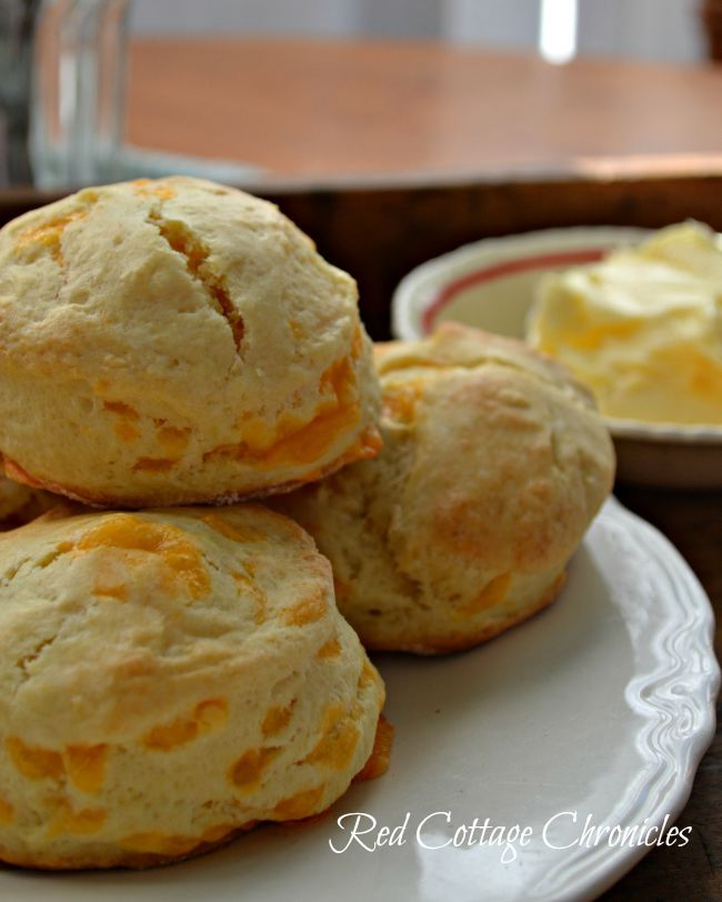 redcottagechronicles.com   Cheddar Cheese Tea Biscuits
