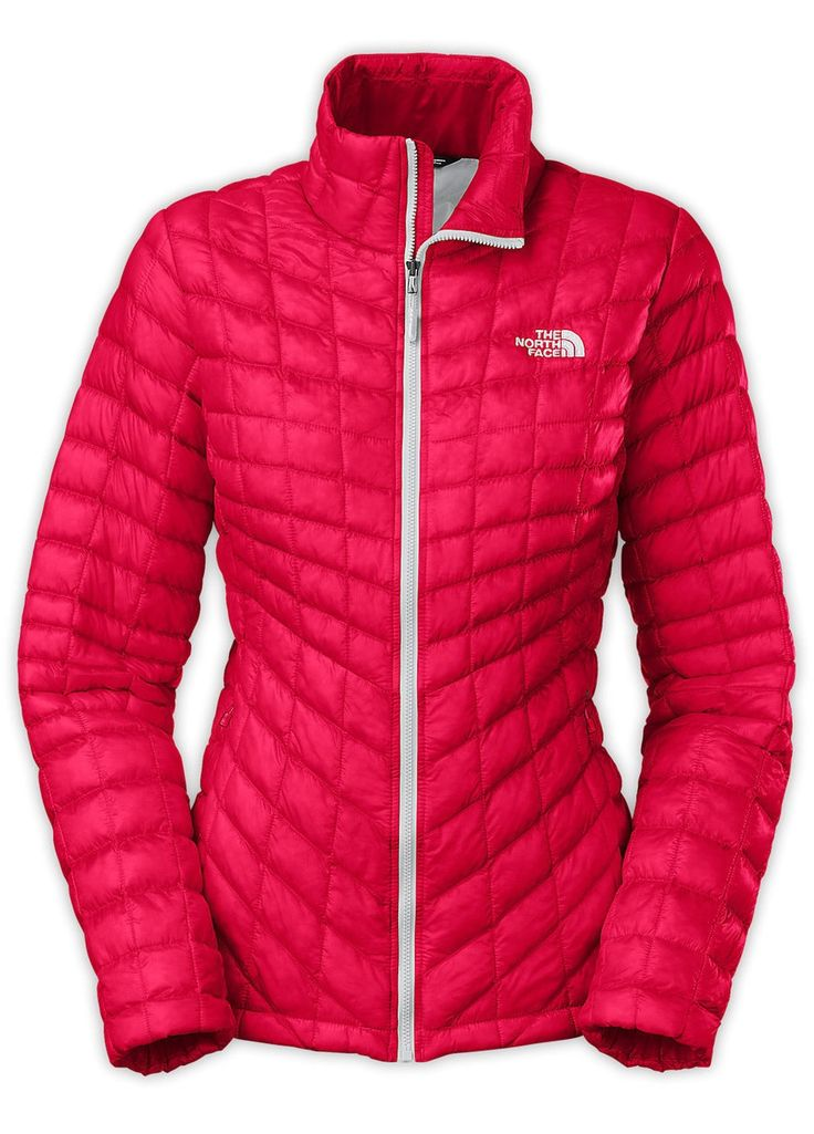 North Face Women's Thermoball Jacket in Rose Red