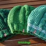 Knitted pattern for knitted hat