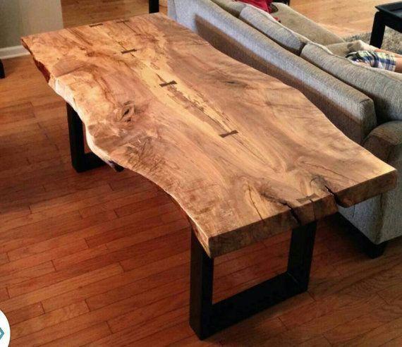 Live Edge Spalted Maple Dining Table Van Kheatondesign Op Etsy