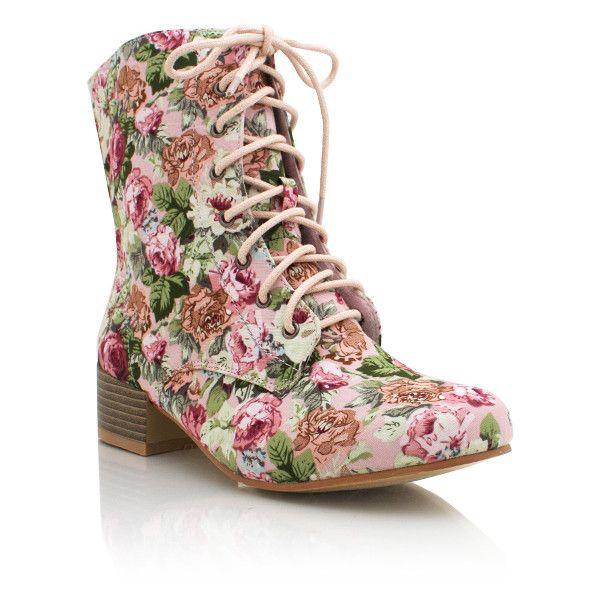 17 best ideas about Floral Combat Boots on Pinterest | Floral dr ...