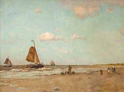 Hendrik Johannes Weissenbruch - Strand bij Scheveningen