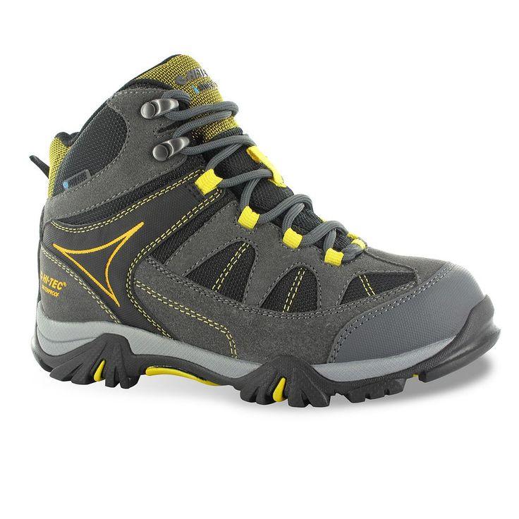 Hi-Tec Altitude Lite I Jr. Boys' Mid-Top Waterproof Hiking Boots, Size: 2.5, Grey