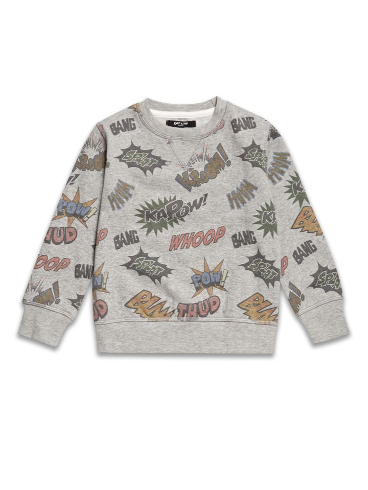 Boys Boutique Grey Comic Sweatshirt - Baby Boutique Shop #boys_clothes