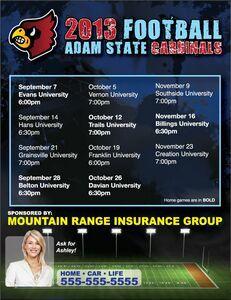 "Schedule Magnet - Square Corners (8 1/2"" x 11"") #schedulemagnet #sportsteams #insuranceagents #realtor #schools"