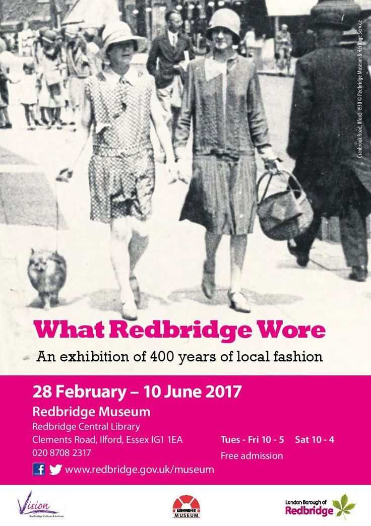 Discover 400 years of local fashion in this special exhibition by #Redbridge Museum.  From portraits of 17th century gentlemen to wartime uniforms, from 1960s Mods to modern urban street style, the exhibition explores what people in #Ilford, #Wanstead and #Woodford have worn and why.