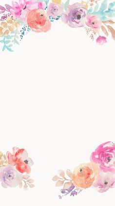 Digital art illustration floral; watercolour (watercolor) nature wallpaper // Cuptakes 12/2/15 tjn