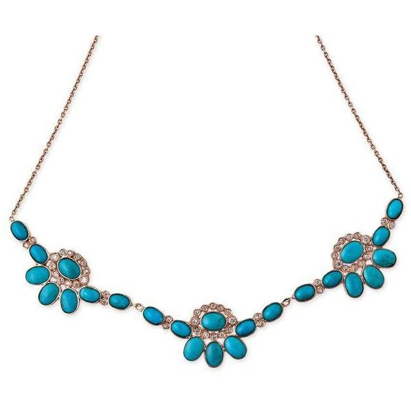 TURQUOISE WESTERN FLOWER NECKLACE ($5,600) ❤ liked on Polyvore featuring jewelry, necklaces, turquoise jewelry, 14 karat gold necklace, vintage jewelry, cowboy necklace and vintage necklace