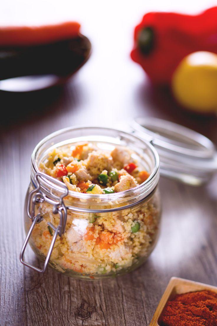 Bocconcini di pollo aromatizzati e tante verdure per un #couscous con i fiocchi…