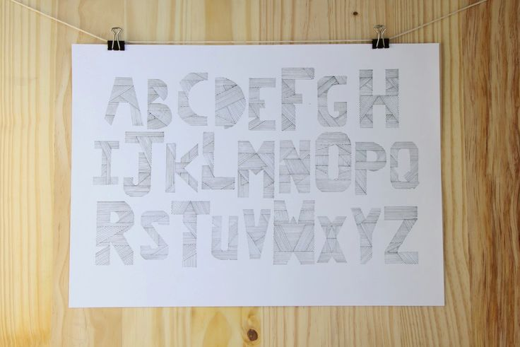 Lined Alphabet Print - The Sarah Spring Collection