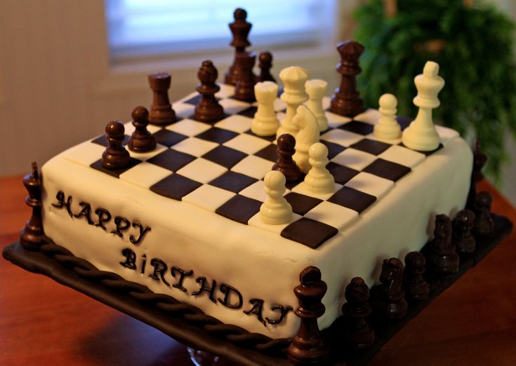 Chess Board Birthday Cake