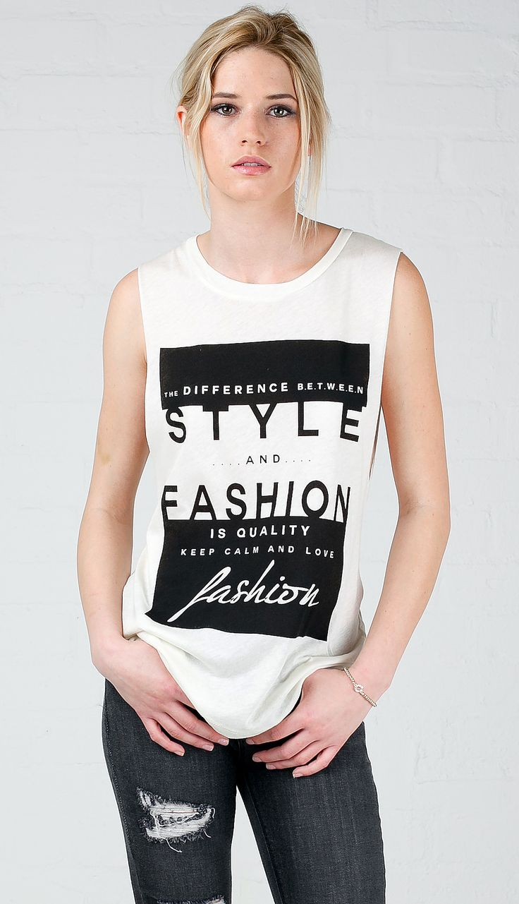 Style & Fashion Graphic Muscle Tank Top