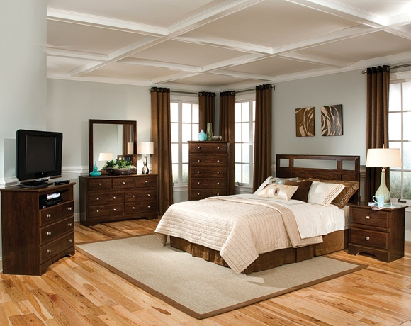 nebraska furniture mart u2013 harden 4 piece king bedroom set in dark brown cherry