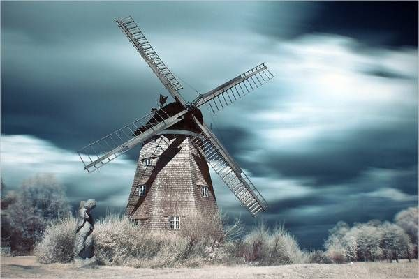 35 Foto infrarossi mozzafiato: Google Image, Creepy Windmill, Windmills Photos, Art, Google Search, Dutch Windmills, Photography, Windmill Drawing