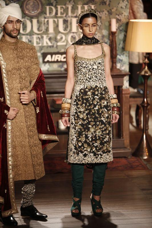 I like the boys sherwani and velvet  shwal. Delhi Couture Week 2012: Sabyasachi