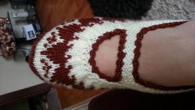 hadi hep beraber bu cici patiği örelim mi??? 2 ayrı desende - Patik-Çorap Etkinlikleri