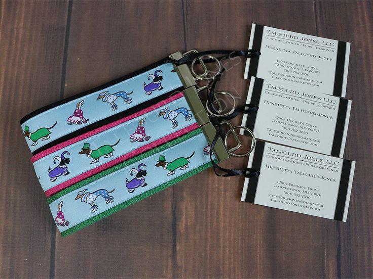 Dog Key Fob - Key Lanyard - Wrist Key Fob - Ribbon Key Ring - Lanyard Keychain - Wrist Lanyard - Gift Under 10 - Co-Worker Gifts by TalfourdJones on Etsy