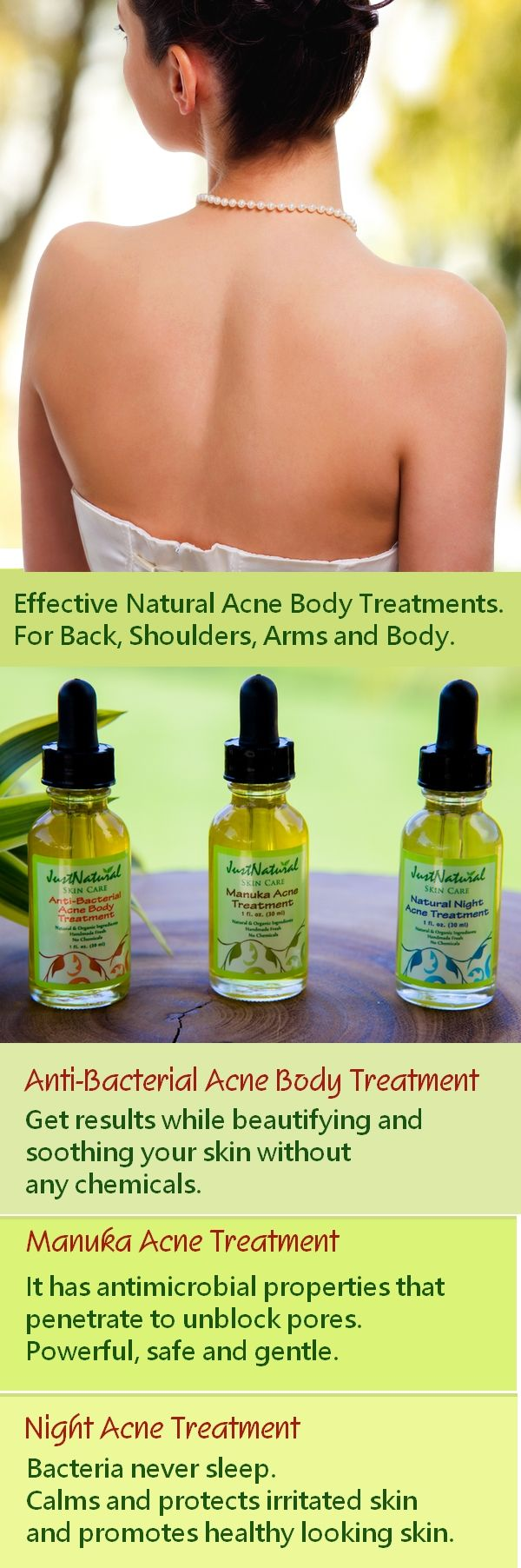 Many acne products have chemicals that are not safe and can have side effects ranging from allergies, reddish itchy skin, inflammation and irritation. These can worsen your acne. These natural formulas are the safest and the most powerful healing and renewing for beautiful healthy clear skin without side effects. Learn more at http://www.justnaturalskincare.com/9/acne/-anti_bacterial_serum.html
