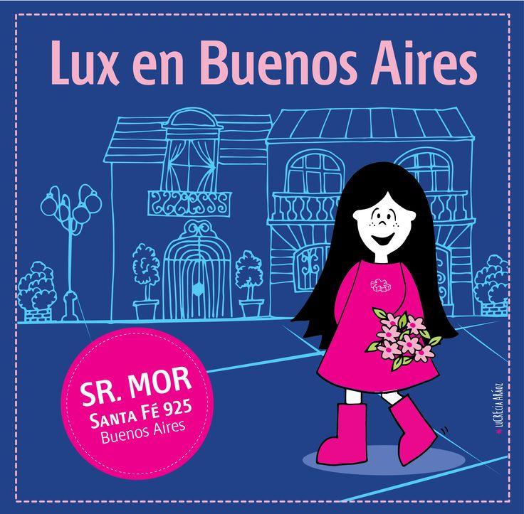 Lux en Buenos Aires! Señor Mor.   #pink #lux #muñeca #buenoaires #argentina #kids #store #doll #tigre