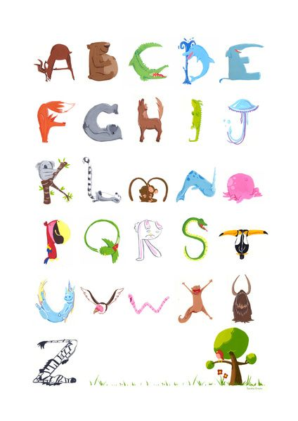 Animal Alphabet Art Print by Sandra Ortuño | Society6