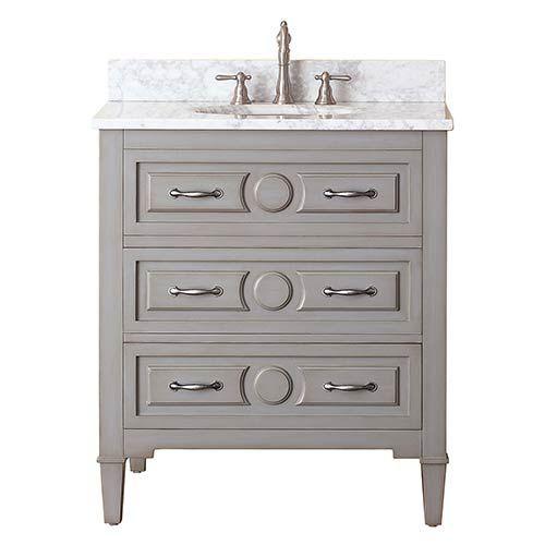 Modero Chilled Gray 60 Inch Double Vanity Only Avanity Vanities Bathroom Vanities