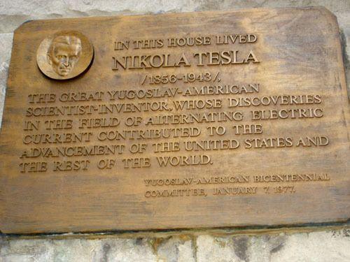 Plaque of Nikola Tesla on Radio Wave Building – New York, New York   Atlas Obscura