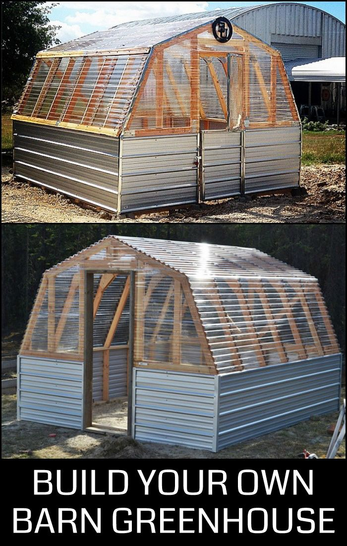 Do you want a greenhouse in your yard? Why not build this beautiful structure yourself?