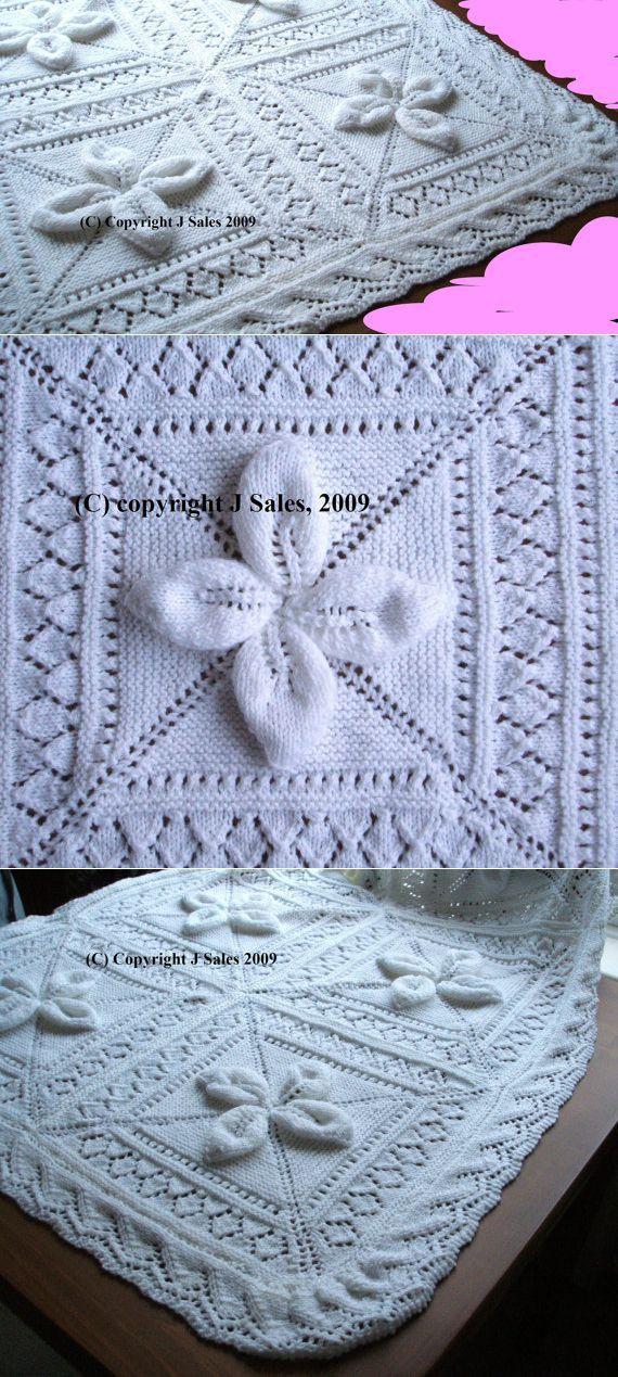 Babies Cot Pram Blanket knitting pattern by knittingpatterns4you   MEZGAME VAIKAMS   Постила