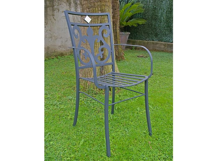 """""""florence"""" iron chair, with arms. www.ilfaunomosaici.it"""