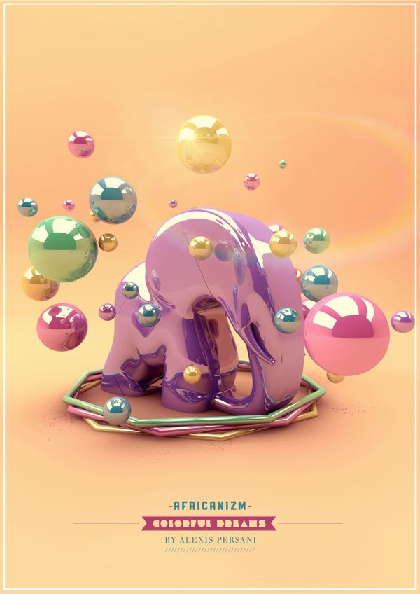/// Colorful dreams /// by Alexis Persani, via Behance.net