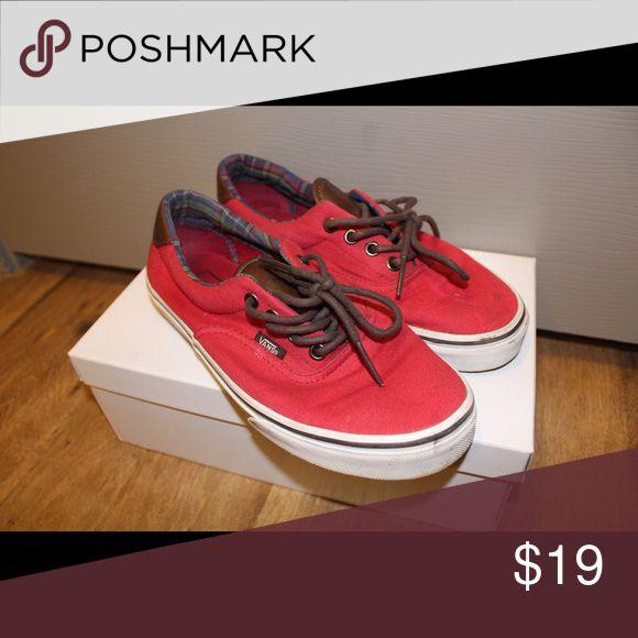 Red vans Used. Leather. Red. Vans Shoes Sneakers