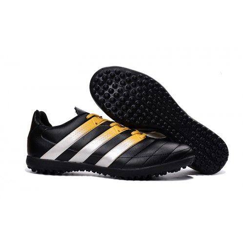 nuovi scarpe da calcio scontate adidas ace 16.3 tf nero bianca oro.