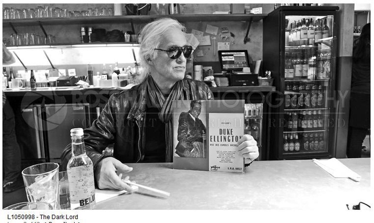 Jimmy Page in Soho NYC April 6, 2013 after record shopping and finding one of his faves: Duke Ellington......Photo: Ross Halfin