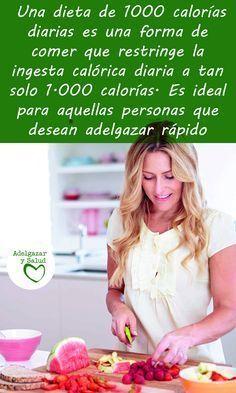 Adelgazar rápido no es complicado si pruebas con la dieta de las 1000 calorías ¡Sigue leyendo! #Dietas #Adelgazar #Bajar #Peso