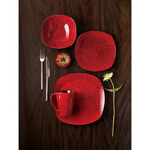 Hometrends Kasbar 16-Piece Dinnerware Set  sc 1 st  Pinterest & 60 best The Dish images on Pinterest | Dishes Casual dinnerware ...