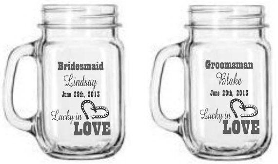 Western Wedding Ceremony   Lucky in Love by DesignImageryEngrav, $32.00