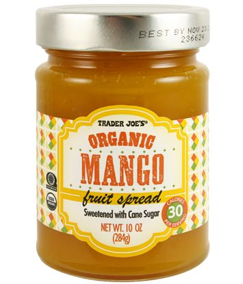 Organic Mango Fruit Spread | Trader Joe's | 10 oz.  $2.49 | September 28, 2016 in Category: What's New  #traderjoes #organic #mango #jam #fruitspread
