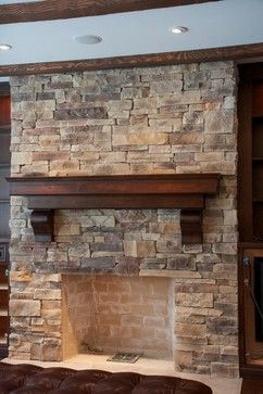 {at home} with Bobi: Rock Fireplace Ideas