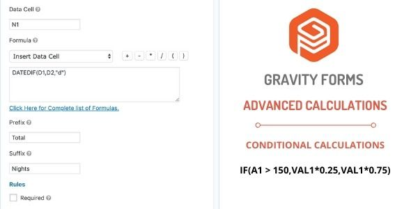 Gravity Forms Advanced Calculations Stylelib Fitness Calculator Excel Formula Gravity