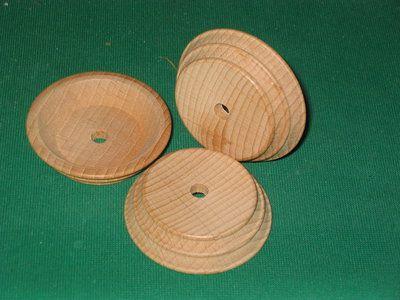 MH Piedistallo legno a forma di botte conica da 50 mm