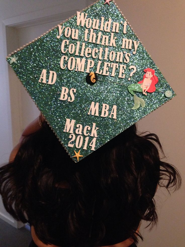 Master's graduation cap! Lined the boarder with pearls and absolutely loved it!