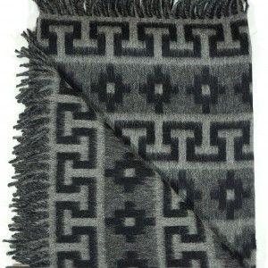 Peruvian Alpaca & Wool Ethnic Reversible Blanket