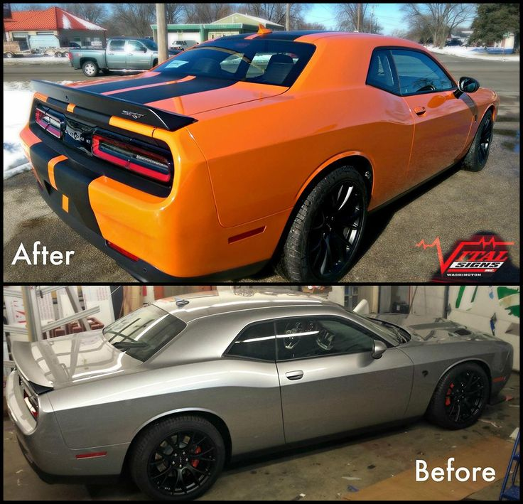 Nice Transformation On This Dodge Challenger Hellcat From