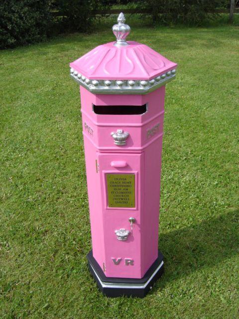 Pink Penfold Postbox - Postbox For My Wedding - Derbyshire Wedding - Postbox - Spirits High